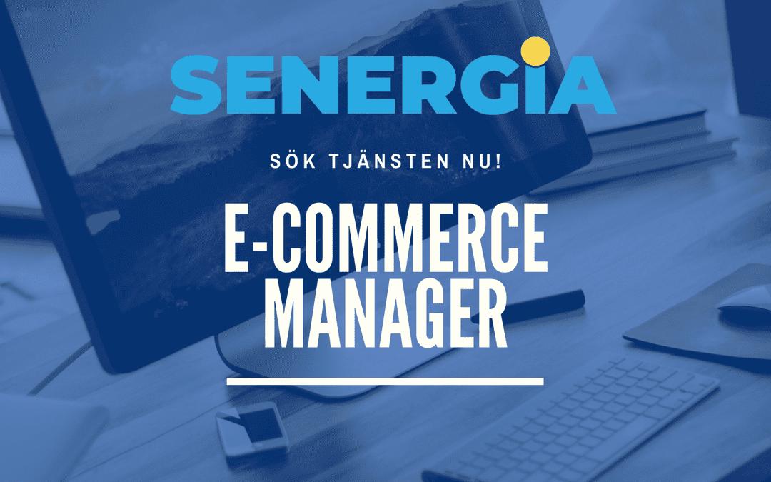 Vi söker en E-commerce manager!
