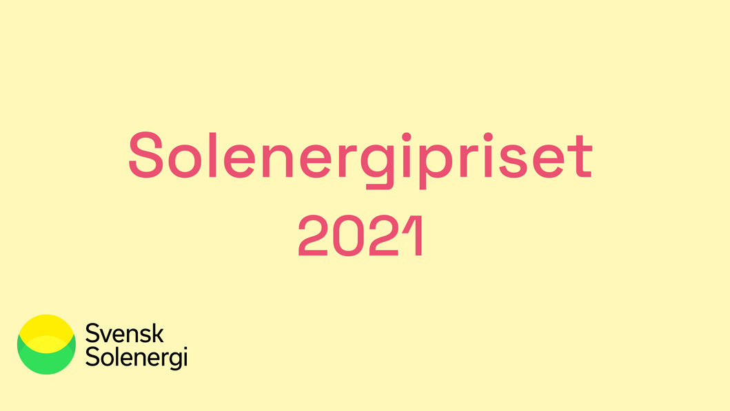 Tim Ljunggren nominerad till Solenergipriset 2021